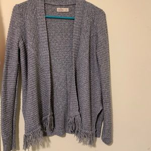 Grey Knit Hollister Cardigan